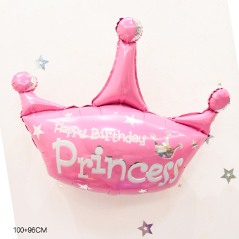 Decorative birthday party decorative CROWN aluminum balloon Christmas balloon