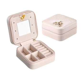 Delicate Jewelries Boxes Leather Ornaments Case Storage Box JewelryDisplay Rack - intl