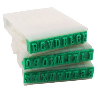 Detachable Plastic Rubber 26 English Alphabet Letters Stamp Set for Marking - Intl