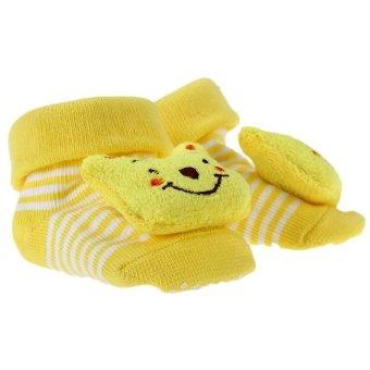 DHS Babys Anti-Slip Socks (Yellow) - Intl - picture 2