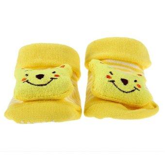 DHS Babys Anti-Slip Socks (Yellow) - Intl