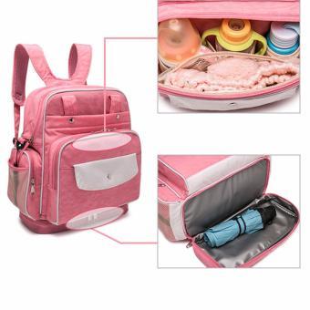 Diaper Bag Mommy Bag Nappy Backpack Changing Bag Shoulder Bag SlingBag Multifunction Baby Bottle Holder Bag - 5