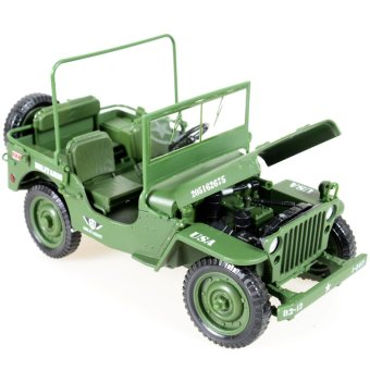 Diecast 1:18 Army Tactical Alloy Jeep Vehicle Military Model ToysMilitary SUV Toys Gift - intl