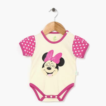Disney Baby Girls Minnie Mouse Onesie (Cream)