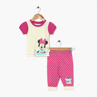 Disney Baby Girls Minnie Mouse Pajama Set (Cream) Price Philippines