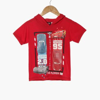 Disney Cars Baby Boys Hooded Graphic Tee (Red)