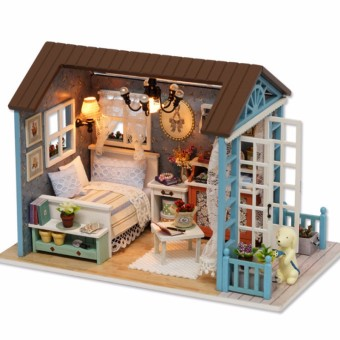 DIY Assemble Dollhouse with Cute Dog