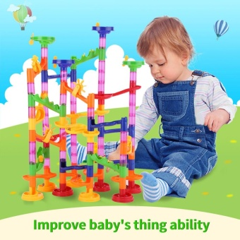 DIY Construction Marble Race Run Maze Balls Track Building BlocksBaby Kid Gift Educational Toy - intl Price Philippines