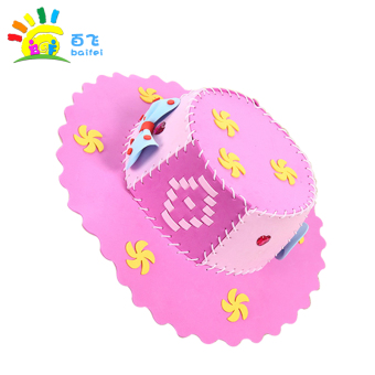 DIY Eva kindergarten material box educational toys cap for making hat