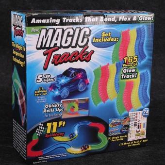 DIY Magic Tracks with Glowing Race Car for Kids(165tracks- 2cars) - 3