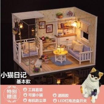 DIY new starry adventure handmade Small House CUTE ROOM