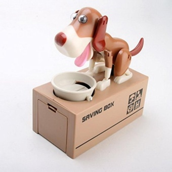 Dog Style Coin Money Box Piggy Bank Collecting Saving Money BankColor Brown - intl