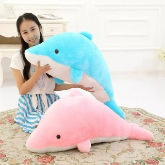 Dolphin Stuffed Animal Plush Toy Pillow Gift For Children (30CM,Pink) - intl - 2