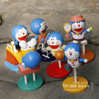 Doraemon I will machine cat car mounted figurine