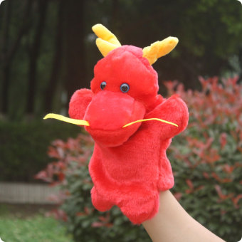 Dragons kindergarten early childhood Yi Zhi pacify doll hand puppet