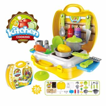 Dream The Suitcase Kitchen Cooking Play 26pcs. Toy Set