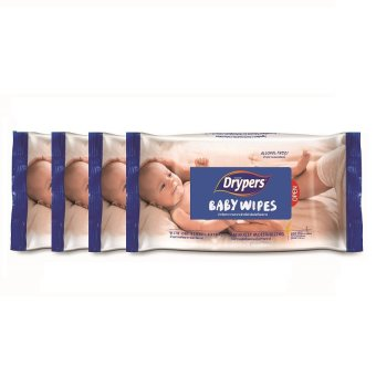 Drypers Baby Wipes 100's Pack of 4