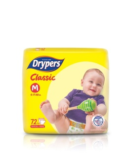 Drypers Classic Family Pack Medium 72's Pack of 4 Price Philippines