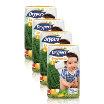 Drypers DryPantz Diaper Large 36's Pack of 4