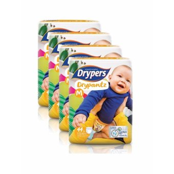 Drypers DryPantz Diaper Medium 44's Pack of 4