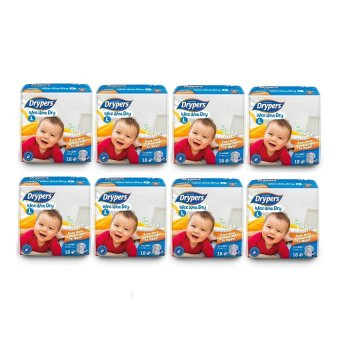 Drypers Wee Wee Dry Diapers Regular Pack Large 18's Pack of 8 Price Philippines