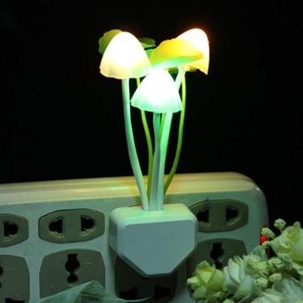 DSstyles Creative Design Energy Saving Light Induction ControlSensor Multi-color Mushroom LED Night Light Plug-in Wall LampBedroom Decor - intl - 3
