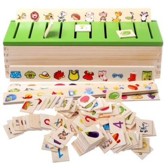 Early Childhood Education Intelligent Learning Card Sorting Box