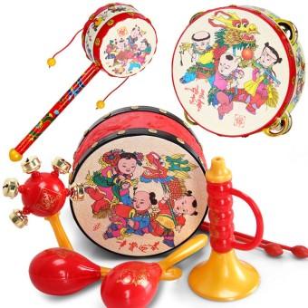 Early childhood Yi Zhi newborns baby rattle wavy drum