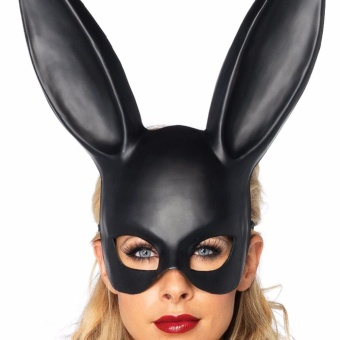 Easter Halloween Masquerade Bunny Rabbit Mask Costume Accessory forAdult,Black by LuckyGirl Store - intl
