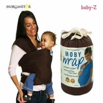 Eco Cub Moby Baby Wrap Carrier for Comfortable Baby Wearing (Brown)