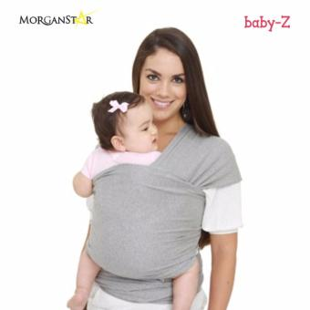 Eco Cub Moby Baby Wrap Carrier for Comfortable Baby Wearing (Light gray)