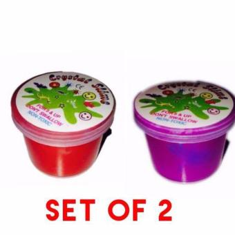 Educational Surprise Jelly Slime set of 2 Red and Violet