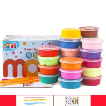 Educational Toy Magic Modeling Clay Non-toxic Ultra-lightMulticolour Plasticine Set for Kids - intl