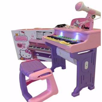 Electronic Organ Piano with Microphone Toy Set (sofia) - 2