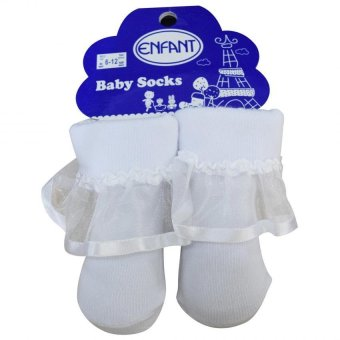 Enfant Baby Girl Sock with Lace design