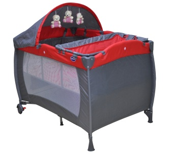 Enfant Baby Playpen (Red/Gray)