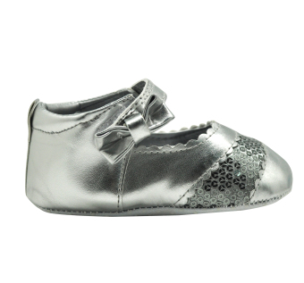 Enfant Baby Silver with Sequins Girl Shoes - picture 2