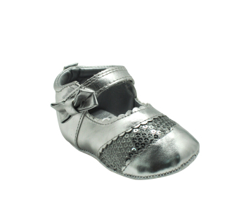 Enfant Baby Silver with Sequins Girl Shoes