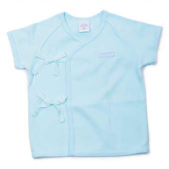 Enfant Shirt Tie Seide Short Sleeves (Turquoise) Price Philippines