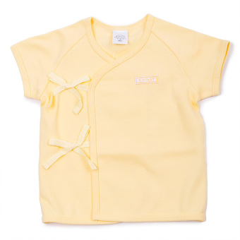Enfant Shirt Tie Seide Short Sleeves (Yellow)
