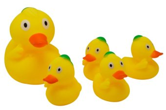 Enfant Squeaky Soft Plastic Duck 5-Piece Set