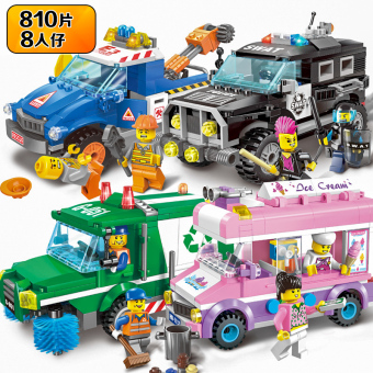 ENLIGHTEN assembled children's SWAT model special police car building blocks
