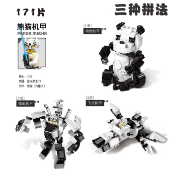 Shopping ENLIGHTEN mech PANDA wolf Mang snake assembled building blocks in Philippines