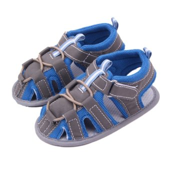 Eozy Baby Prewalker Shoes Cotton Infant Toddler Newborn SandalsFirst Walkers Boys Girls Shoe (Blue)