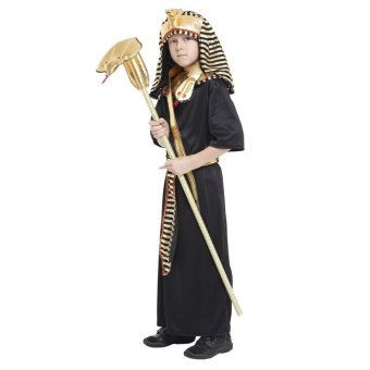 EOZY Boys Halloween Costumes Ancient Egypt Egyptian Pharaoh Cosplay Kids Photography Stage Performance Clothing -L - 2