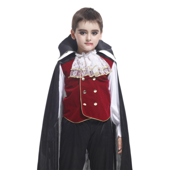EOZY Children's Halloween Costume Lace Cosplay Clothes Set For Boys And Girls -M (Black) - Intl