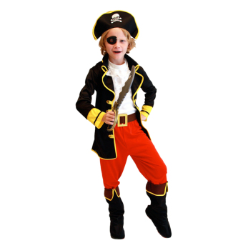 EOZY Children's Halloween Costumes Cosplay Pirates Costumes ForBoys Captain Jack Children Role Playing Children Party Clothes(Black) - Intl