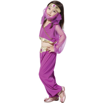 EOZY Halloween Costume Girls Arabian Princess Dresses Kids Dance Dress Stage Performance Suit -L Price Philippines