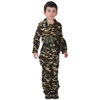 EOZY Halloween Kids Boy Army Camouflage Clothes Cosplay Costumes Stage Performance Costumes -M Price Philippines