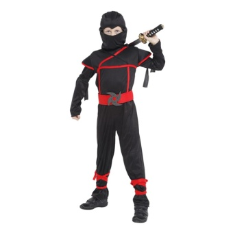 EOZY Halloween Kids Boys Stealth Ninja Costumes Halloween Party Children Assassin Cosplay Costume Stage Performance Apparel Size M - intl